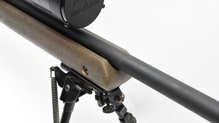 QR Stud can be reversed, the stock is stiff with a truly free-floating barrel at all times