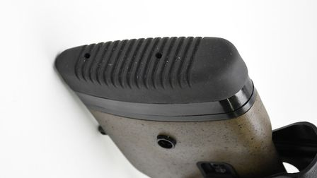 Grippy, firm recoil pad with spacer system for LOP adjustment