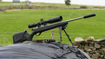 My trusty old 22LR is all set up and good to go after an afternoon a my pop-up range