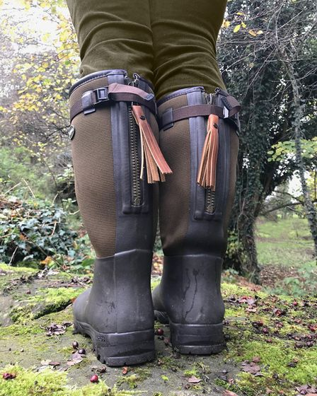 Arxus Primo Nord LW boots - a pair of high-quality wellies that fit his wide feet and calves!