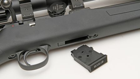 Typical CZ five shot detachable mag, Ten available and bomb proof as ever