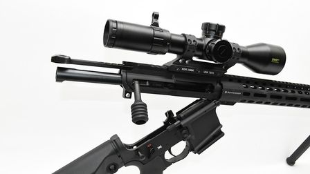 Separate the upper and lower to clean the rifles internals, remove the side handle to withdraw the b