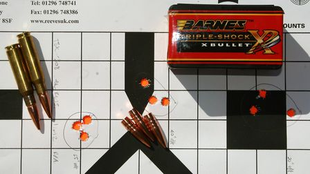 Reloads are just as accurate as lead cored bullets with the correct load, seating depth and bullet r