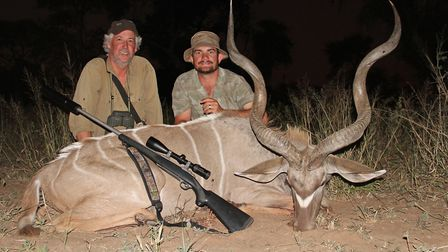 Lovely Kudu bull taken with a Vortex Factory load of 180gr TTSX 300 Win mag, it entered the neck and