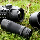 A thermal spotter and a front mounted solution for a standard day scope all in one package