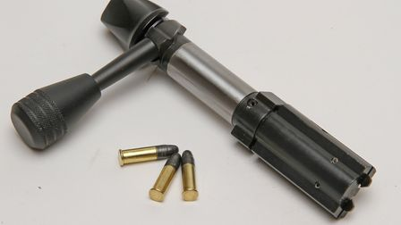 Substantial bolt design with non rotating head and massive gas lugs and twin claw extractors and ver