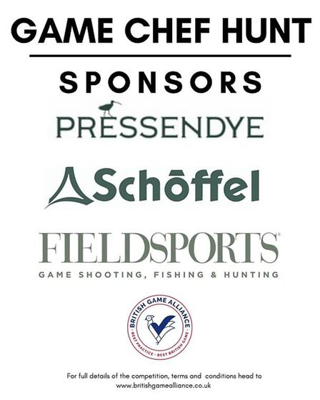 The Game Chef Hunt competition has been made possible by its generous sponsors. Credit: British Game