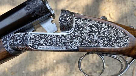 This William & Son 12-bore is made as a high pheasant gun with the aesthetic of a live pigeon gun. I