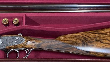 A recently made William & Son 20-bore in its leather case with accessories. Credit: Diggory Hadoke