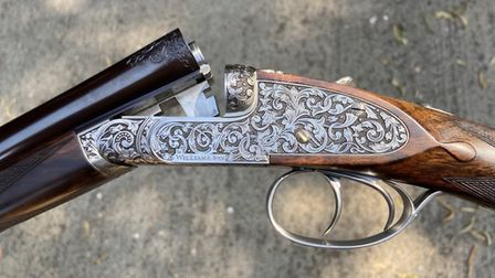William & Son .410 on a perfectly scaled action, hand- filed by Mark Sullivan. Credit: Diggory Hadok