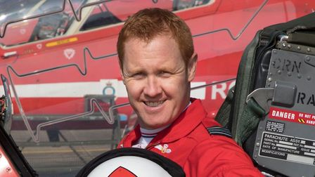 Squadron Leader Martin Pert, Leader of the 2020 RAF Aerobatic Team, has kindly donated his Red Arrow