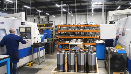 gas turbine modules being produced