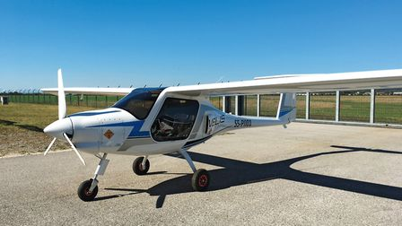 The high wings and large windows provide an excellent field of view for pilot and passenger