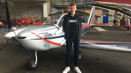 Lewis Finnie is one of the winners of the 2020 Take Off scholarship
