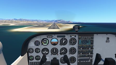 Short final at Nice Cote dAzur airport on a C172. As it can be seen, much like the glass cockpit, th