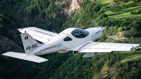 The Energic Flight Trainer made by Czech manufacturer Bristell is powered by a 100kW H55 electric po