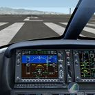 Cirrus SF50 Vision Jet cockpit view before take off from Runway 8L at Honolulu International