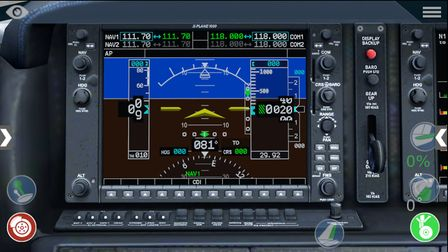 The Primary Flight Display of the very realistic Garmin cockpit