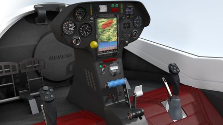 The cockpit of the Elfin20 currently under development by Stemme