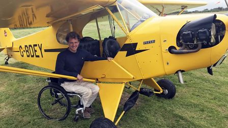 Lightly modified, Arthur's 1940s Cub has a non-standard O-200 engine with an electric starter