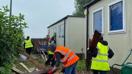 A clean-up operation took place at Ernulf Academy.