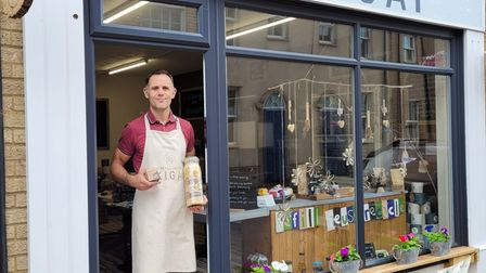 Martin Cooper, the owner of the The Refill Shop of Ikigai, has set up plastic -free goals