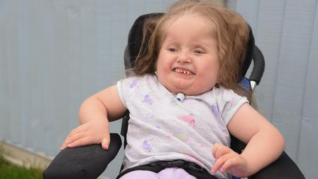 Alivia-Rose who is one of 300 in the world to suffer with a rare disorder. Picture: Danielle Booden