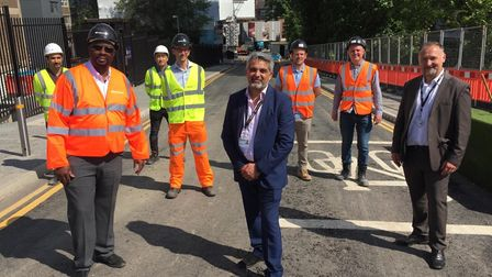 Brent Council leader Cllr Muhammed Butt at the new connector road linking North End Road to Bridge Road