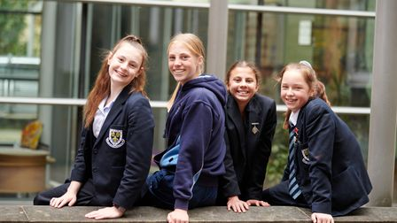 Year 9 students from Wakefield Girls' High School in Yorkshire.