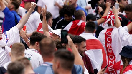 Fans watch the UEFA Euro 2020 match between England and Germany