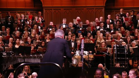 The UEA Choir performing at St Andrew's Hall in Norwich before the coronavirus lockdown.