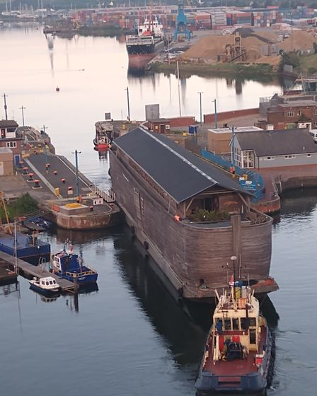 Noah's Ark has left Ipswich Waterfront after an extended stay in the UK