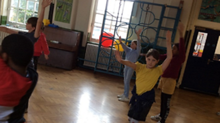 Pupils at William Tyndale tried out Bhangra Dancing during National School Sports Week