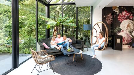 Solarlux by Reveal Wintergarden glass extension is thermally insulated and can be used all year round