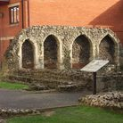 Blackfriar's ancient arches, located in the centre of Ipswich