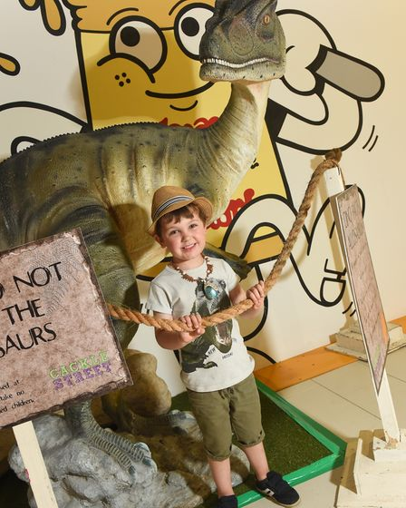 A dinosaur trail is running inthe Castle Quarter shopping centrethis summer.