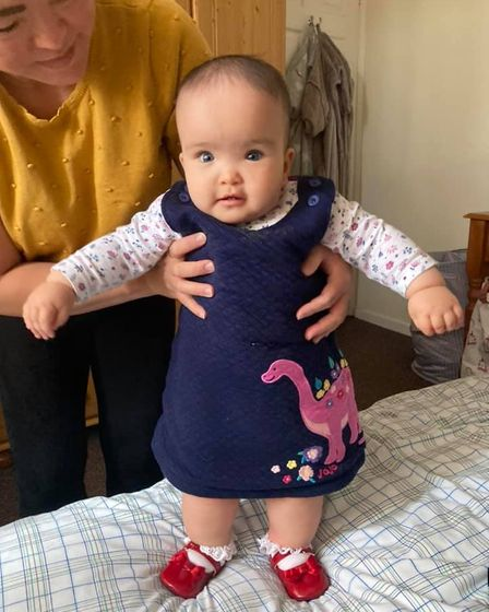 Jasmine Cross, from Costessey, aged eight months old.