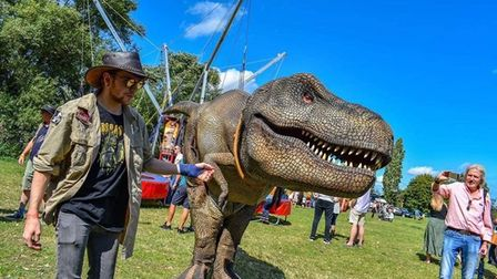 Visitors to the Castle Quarter in Norwich will be able to meet animatronic dinosaurs this summer.