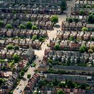 Aerial view of houses on residential streets in Muswell Hill, north London. PRESS ASSOCIATION Photo.
