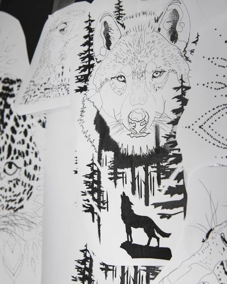Some tattoo designs by artists at Cold Iron tattoo studio in Norwich. Picture: Danielle Booden