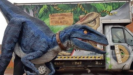 Animatronic dinosaurs will be in the Castle Quarter this summer.