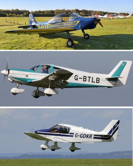 The three aircraft are hangared at Popham; the share is £1,950 + £75/month