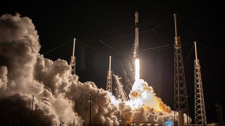 A SpaceX Falcon 9 rocket lifts off from Cape Canaveral on 6 March 2020, on its way to the Internatio