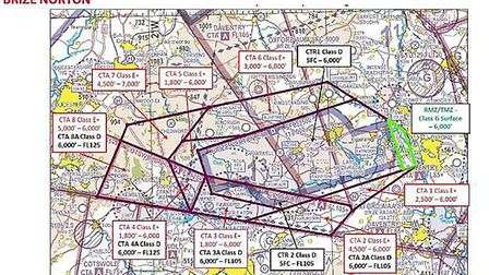 The proposed RAF Brize Norton would have impinged on light aircraft and glider operations over a sub