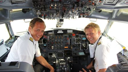Nils Alegren (right) was a first officer on Brussels Airlines/Eurowings fleet of Airbus 330s and A34
