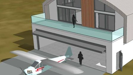 The proposed six 'mixed-use hangars' would have ground floors used by an aviation-related business,