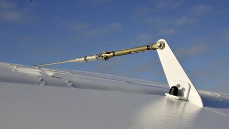 Proper aviation practice is in evidence throughout - aileron turnbuckle correctly wire-locked to avo