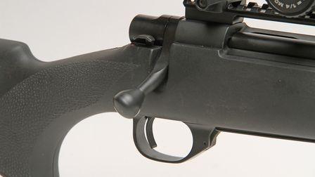 The bolt position and nicely raked pistol grip ensure smooth operating and a steady hold