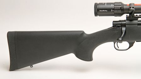 Simple but all you need or want from a synthetic stock and that extra large highly tactile recoil pa
