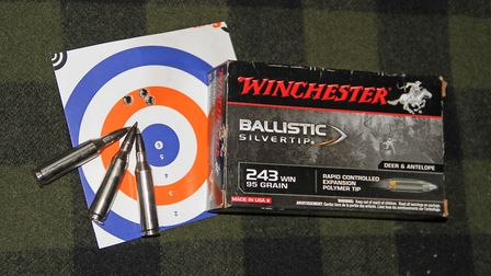 Impressive accuracy under MOA at 100 yards is the Contractor norm with these Winchester 95gr Ballist